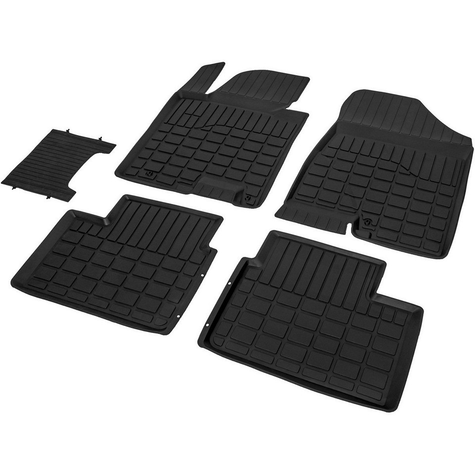 For Hyundai i30 2011-2017 rubber floor mats into saloon 5 pcs/set Rival 62801001 недорого