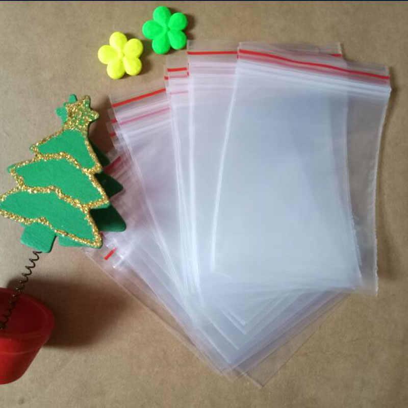 250 pcs Transparentes Pe sacos ziplock resealable plástico varejo embalagem Saco Pe auto-vedação zipper Sacos de Jóias saco de roupas