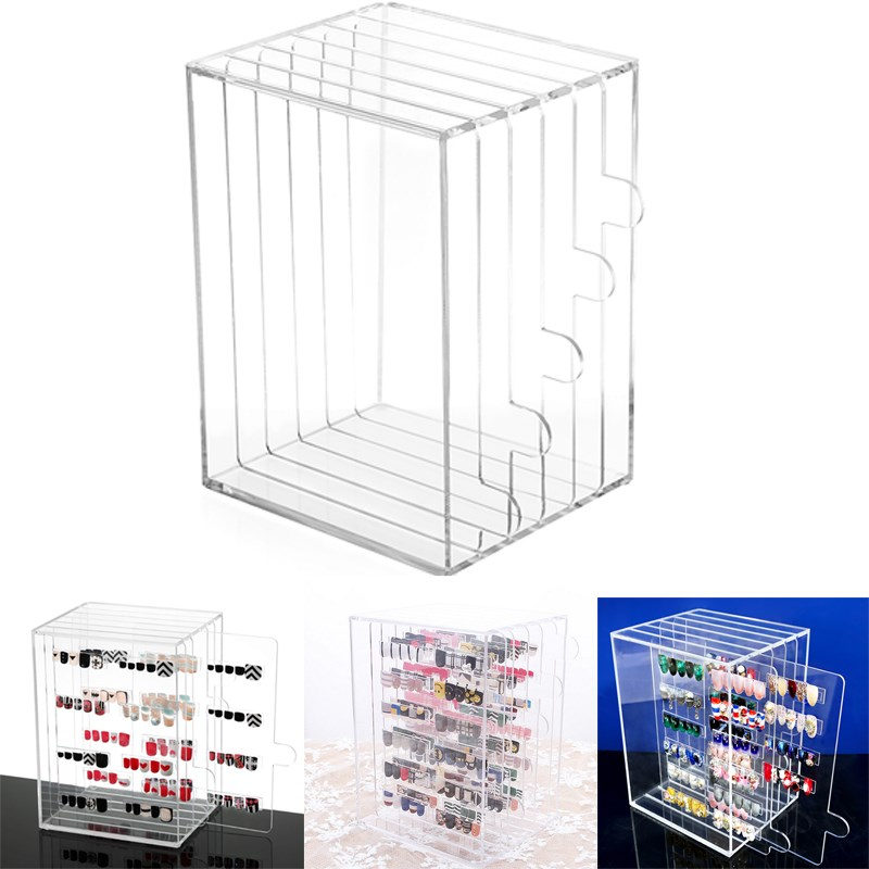 5Grid Acrylic Nail Art Tips Display Stand Rack Dust-proof Show Panel Nail Color Board Desktop Storage Holder Salon Manicure Tool aluminum plastic board eyeglass sunglasses display holder rack stand for 52pairs each distance 0 5cm total height 940mm 1pc lot