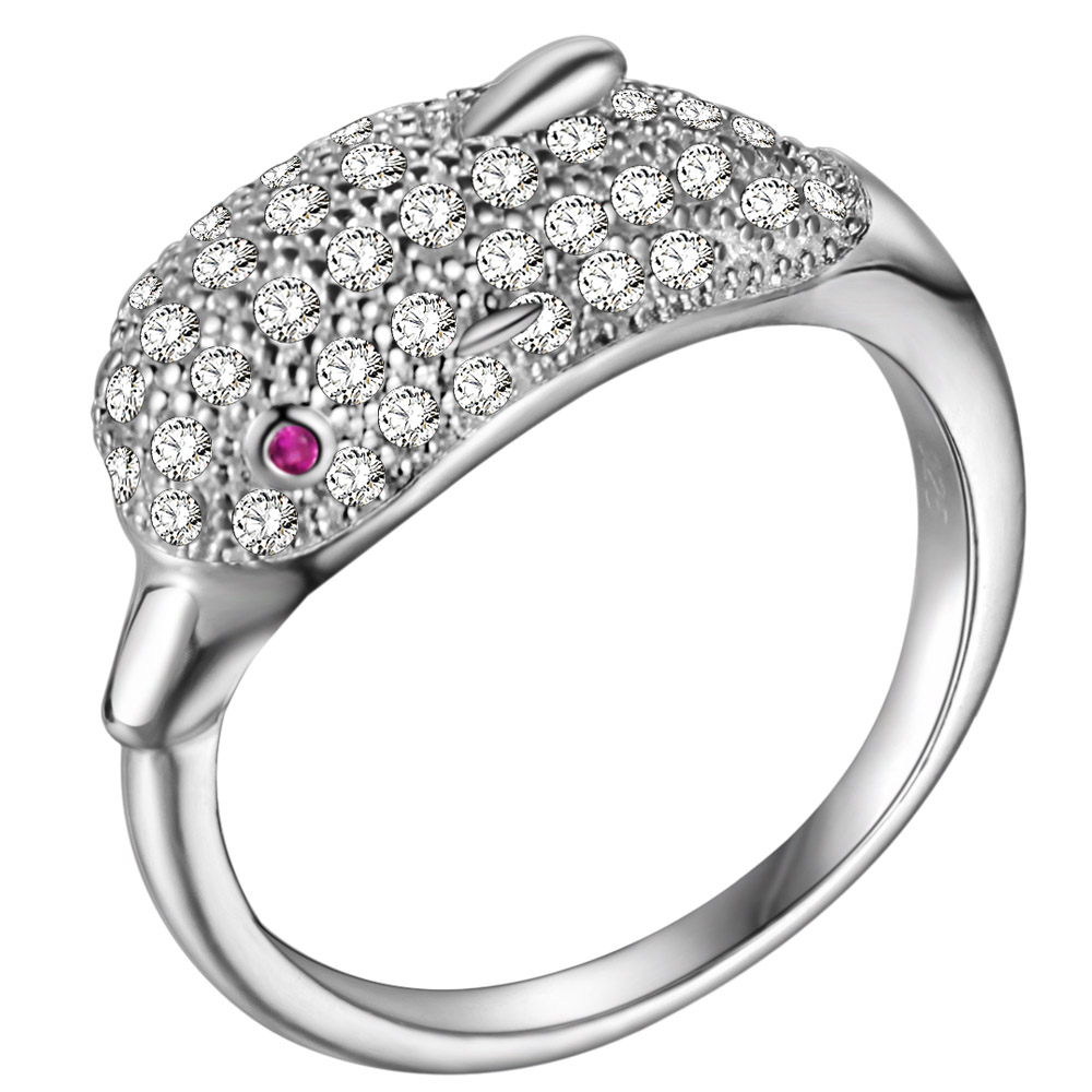 promotion dolphin rings jewelry promotion dolphin wedding rings JewelryPalace Genuine AAA Zirconia Wedding Rings Fashion Cross Shape Band Pure Sterling Silver Silver Jewelry For Women