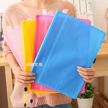 Estojo de papel de camada dupla, alta qualidade, 8 tamanhos, cor aleatória, saco de lápis, estojo de papel com zíper