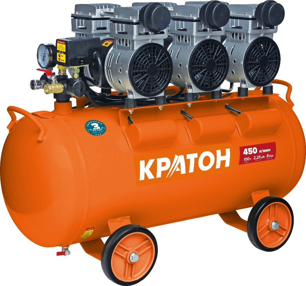 Compressor KRATON with direct transmission oil-free AC-450-100-OFS compressor kraton with direct transmission ac 180 24 dd