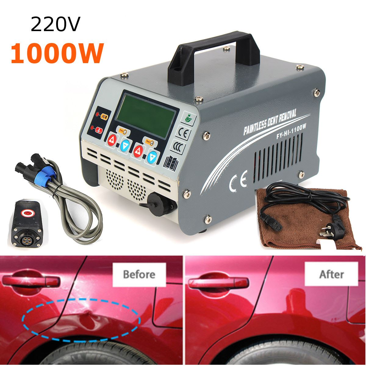 220 v 1100 w Auto Ammaccature senza vernice di Rimozione di Riparazione PDR di Riscaldamento A Induzione Hot Box 2018
