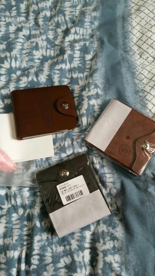 2019 New PU Men's Wallet Multifunctional Short Design Men Wallet Hasp Coin Purse Card Holder photo review