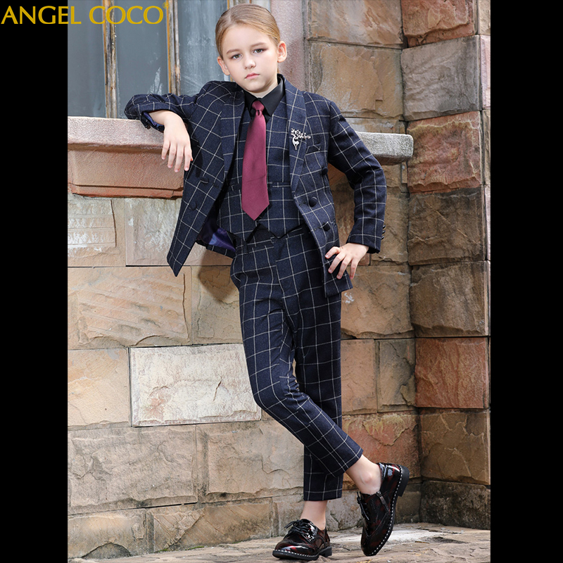 Girls Sets Suits & Blazers Princess Costumes Children Boys Suits For Weddings Piano Party Prom Suit Robe De Soiree Abendkleid