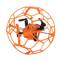 Mini Drone Flip RC Ball Sky Walker 2.4GHz 4CH Fly Ball RC Quadcopter 3D Flip Roller Headless Drone RC Helicopter Toys Copter