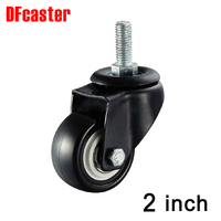 M10 Screw 360 Degree Casters 50mm 2 2 Inch Universal Caster Double Bearing Wheels PU Castor