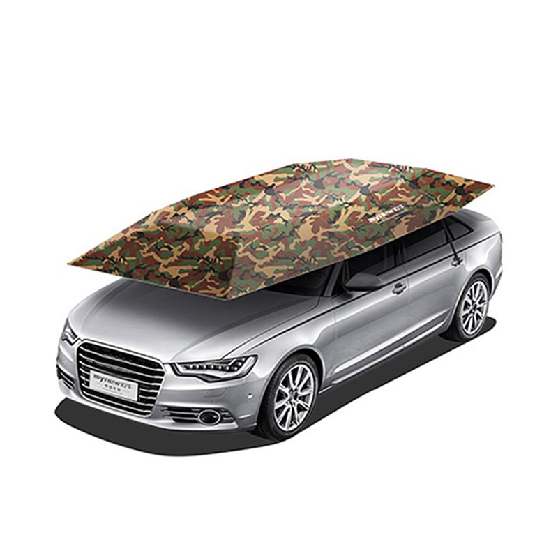 Useful Portable Semi-Automatic Car Umbrella Sunshade Roof Cover Tent UV Protection New Outdoor Tent For Car Fishging