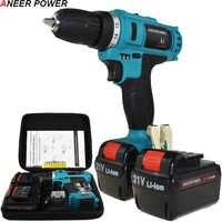 21v Drill Electric Screwdriver Batteries Screwdriver Mini Power Tools Electric Drill Cordless Drill 1.5Ah Battery Capacity