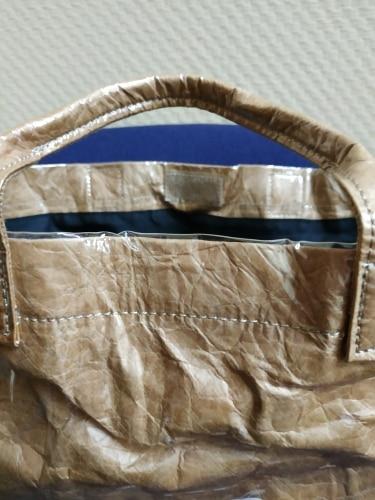 Bolsas de Mão Causal Transparente Marrom