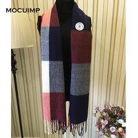 MOCUIMP Lamb Wool Scarf For Female Wool Pashmina Bandana Winter Spring Long Luxury Brand Men Women