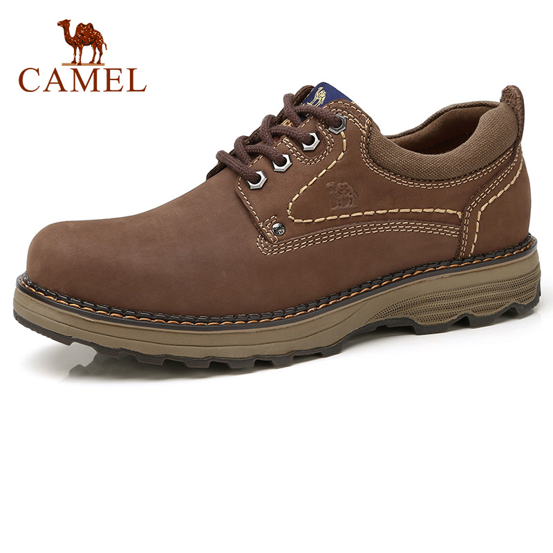 CAMEL Men s Shoes Autumn Casual Low cut Workwear Scrub Genuine Leather Flexible Matte Cowhide Man