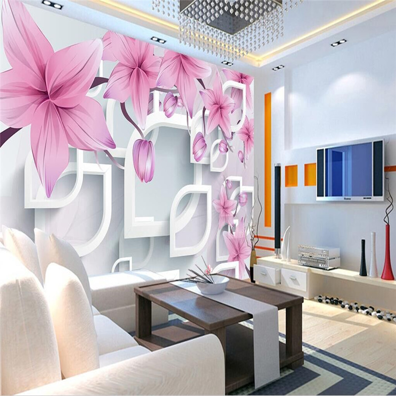 3D Dream Lily Mural Wall Professional Production Wallpaper Mural Custom Photo Wall in Wallpapers from Home Improvement
