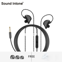 Sound Intone S6 In Ear Wired Earphones With Microphone Volume Control 3 5mm AUX HiFi Sound