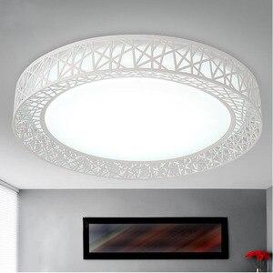 Image 2 - Plafonnier circulaire en fer, disponible en noir/blanc, éclairage décoratif de plafond, luminaire décoratif de plafond, idéal pour un salon ou une chambre à coucher