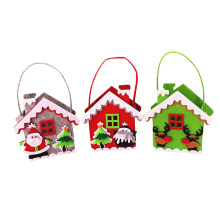 Stereoscopic Mini Christmas Gift Bags Santa Claus House Candy Bag