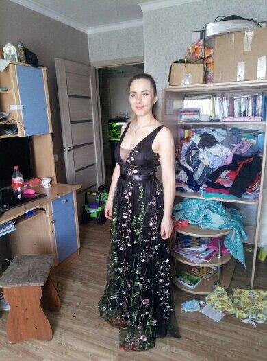 Sexy Mesh Vintage Floral Embroidery Maxi Dress Women Autumn Backless Beach Dress Female Elegant Ladies Wrap Long Dress photo review