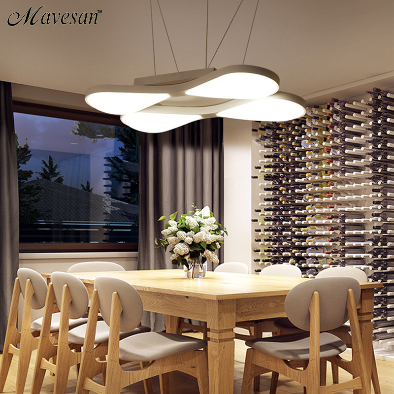 Modern Led Pendant Lamps For Dinning Room Acrylic Round Circle Hanging Lamp 85 265V
