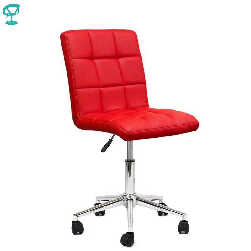 94714 Barneo N-48 Leather Roller Kitchen Chair Swivel Bar Chair Red Free Shipping In Russia