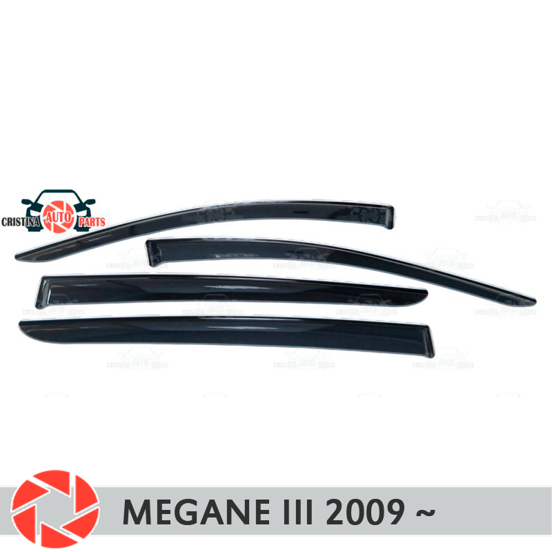 цена на Window deflector for Renault Megane 3 2009- rain deflector dirt protection car styling decoration accessories molding
