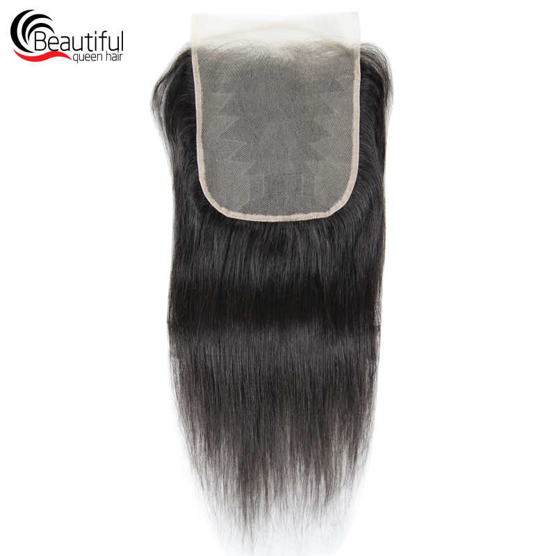 Beautiful Queen Peruvian Human Hair 10A 7x7 TRANSPARENT Lace Closure Straight Lace Closure Natural Color Free Part Virgin Hair