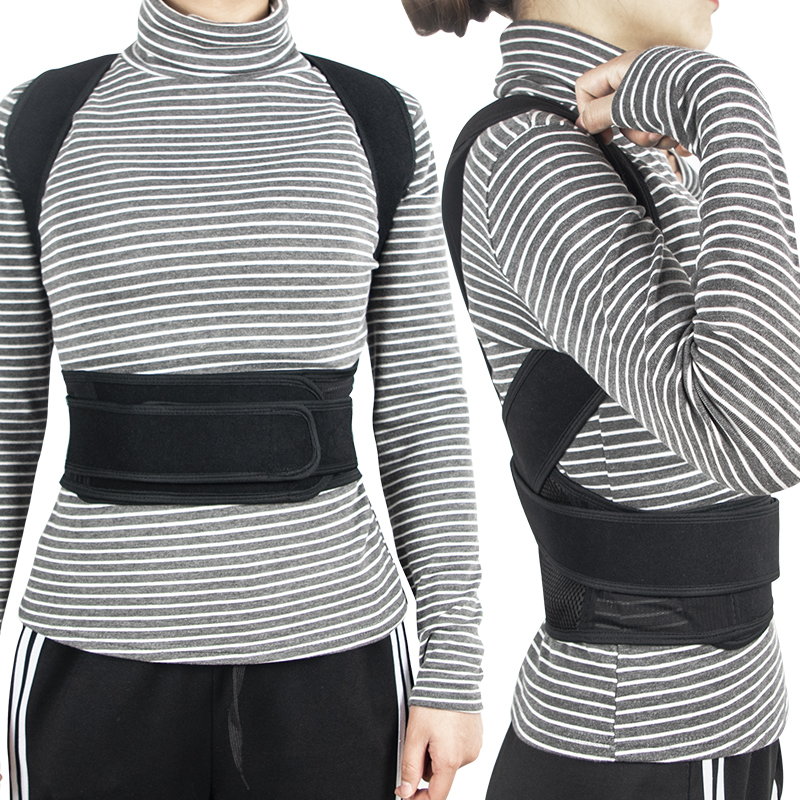 suporte cinto ajustável adulto corset postura correção cinto corpo cuidados de saúde