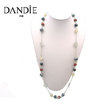 Dandie Trendy Ceramic Beads Long Necklace, Statement jewelry