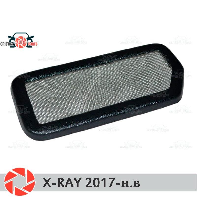 Malha filtro sob jabot para Lada X-Ray 2017-plástico ABS proteção decoração em relevo exterior car styling acessórios