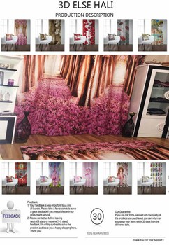 Else Gray White Broken Wall Turkish Ottoman Vintage 3D Print Living Room Bedroom Window Panel Curtain Combine Gift Pillow Case