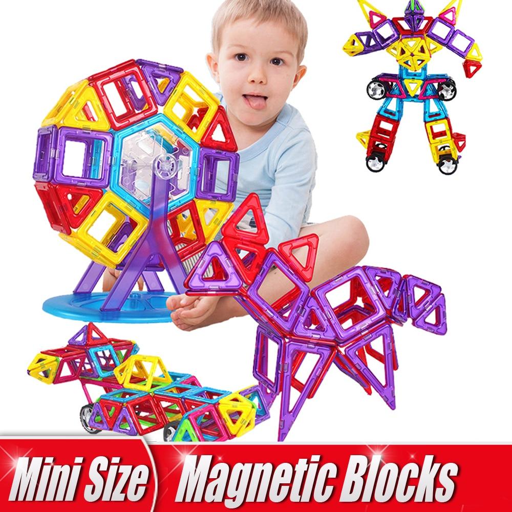1PCs Mini Size Magnetic Blocks Creative DIY Building Blocks Magical Magnet Single Bricks Parts Educational Toys
