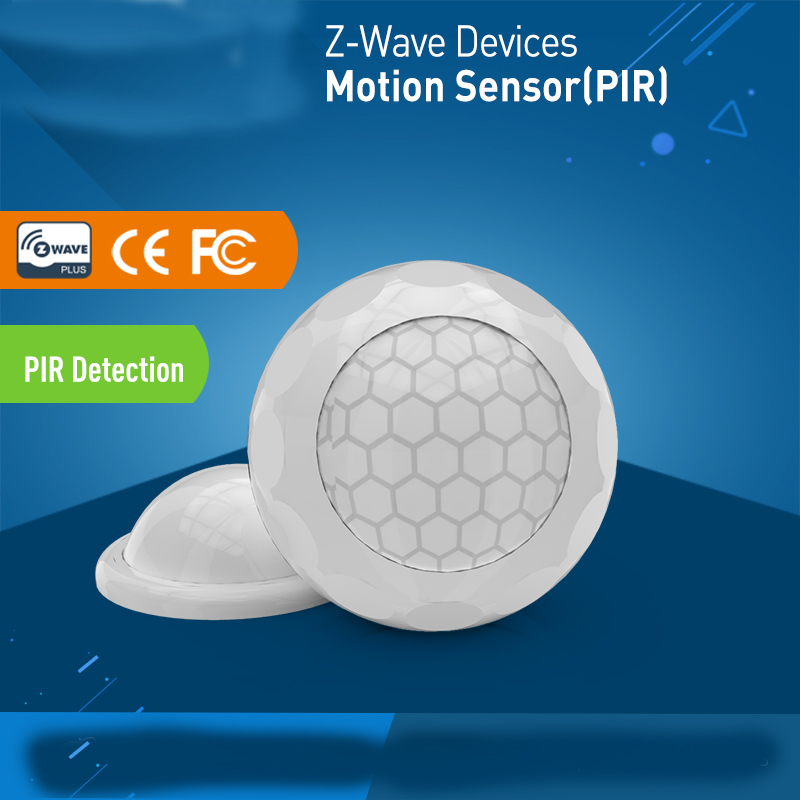 SmartYIBA Z-wave Plus Infrared PIR Motion Sensor Detector Home Automation Power Operated Z wave Alarm System PIR Motion Sensor