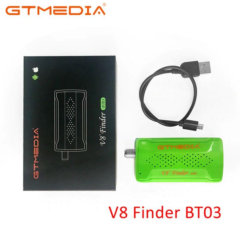 Оригинальный GTmedia V8 прибор обнаружения BT03 Finder DVB S2 спутниковый искатель лучше, чем СБ ws 6933 ws6906 обновления freesat bt01-in Приемник спутникового ТВ from Бытовая электроника