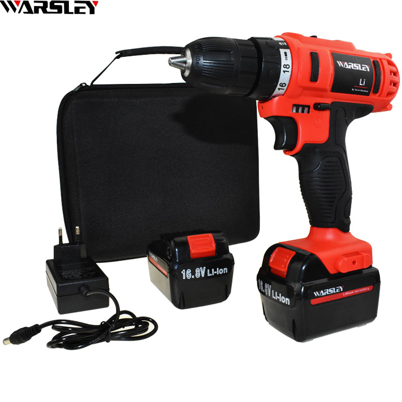 16.8v Power Tools Battery Drill Electric Screwdriver Cordless Drill Electric Electric Drill Tools Mini Electric Drilling Eu Plug 220v electric drill power tools