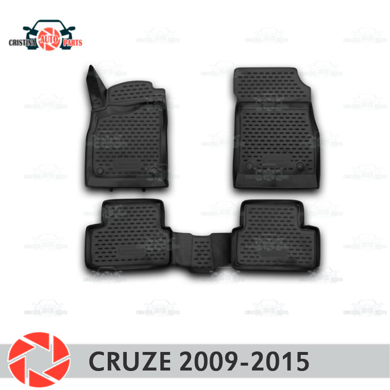 Floor mats for Chevrolet Cruze 2009-2015 rugs non slip polyurethane dirt protection interior car styling accessories for chevrolet malibu 2013 2015 interior car floor mats accessories foot pad kits