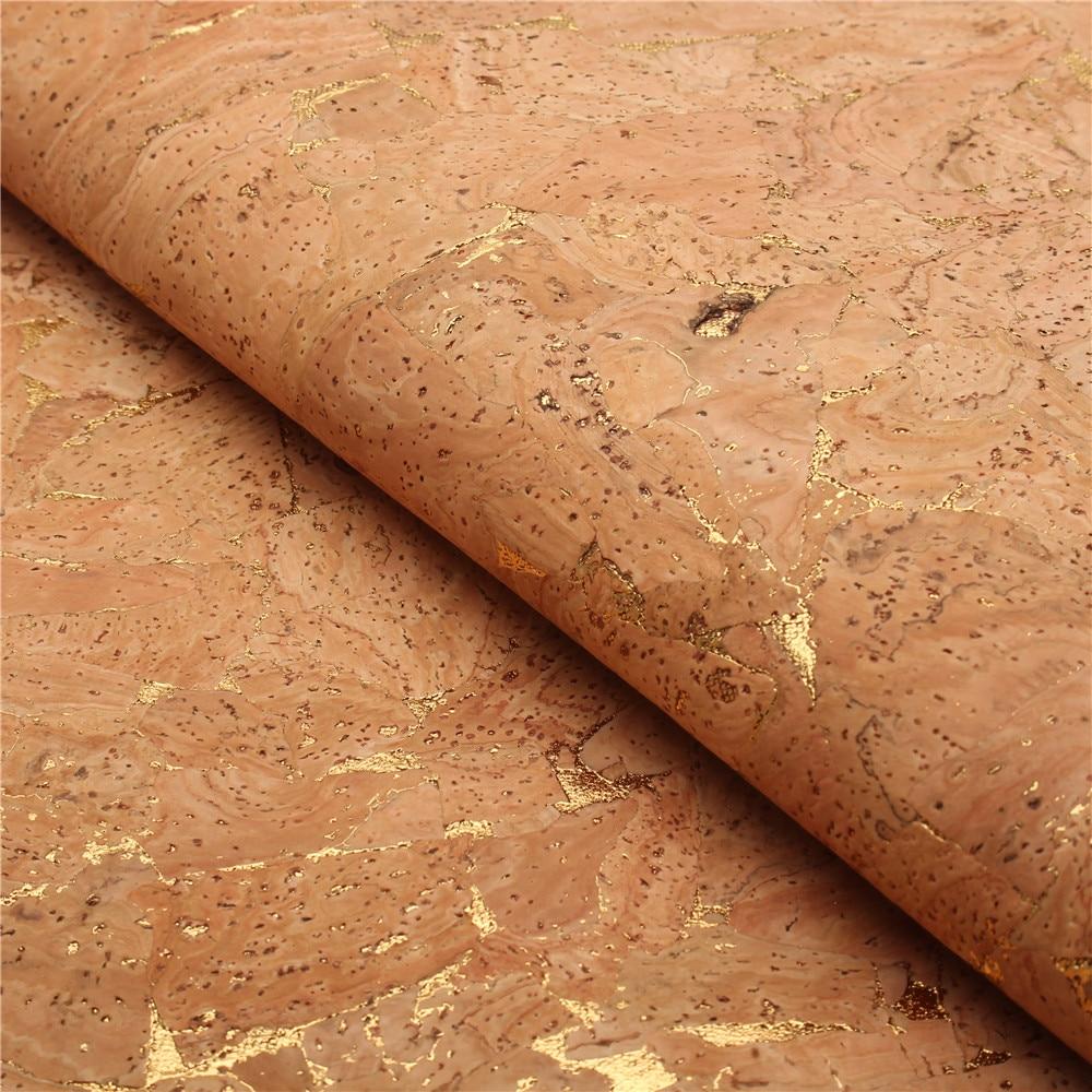 PORTUGAL cork fabric 68x50cm/135x100cm gold streak leather Vegan waterproof Abrasion resistance fabric COF-143
