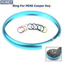 1pc de alumínio inteligente chave fob substituição anel para 08-13 mini cooper r55 r56 r57 r58 r59 r60 chaveiro caso aro do carro estilo