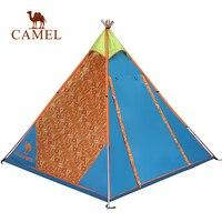CAMEL Pyramid кемпинговая палатка Однослойная ветрозащитная водостойкая наружная туристическая Пляжная палатка для 2 3 человек