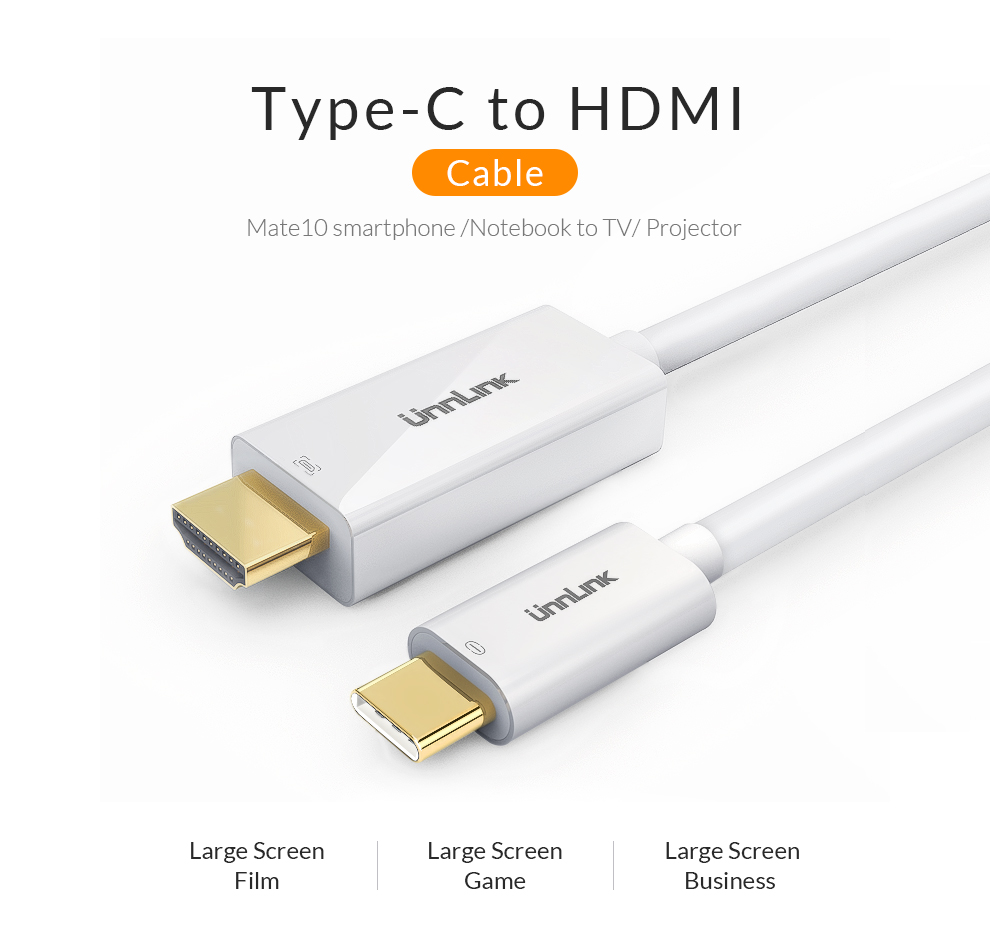 Aliexpress.com : Unnlink USB C Hdmi kabel Typ C zu HDMI Konverter ...