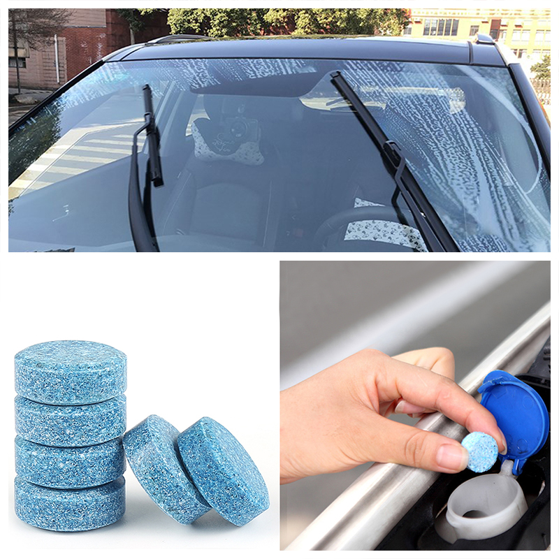 Car Accessories | 1PCS =4L Liplsating Car Windshield Cleaning Car Accessories Glass Cleaner Car Solid Wiper Fine Wiper Car Auto Window Cleaning