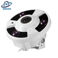 SSICON 2MP 1 7MM Lens Home Security AHD Fisheye Camera 3Pcs Array Leds 180 Degree View