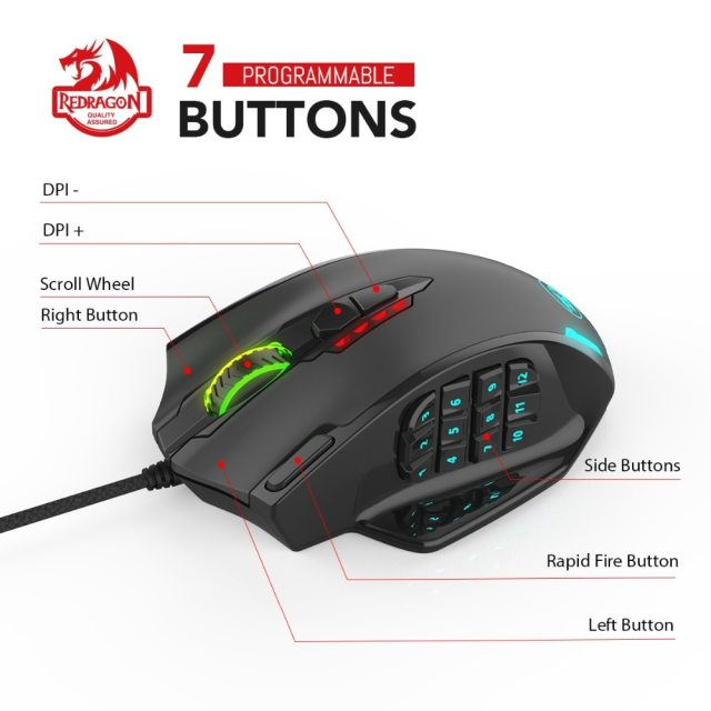 Redragon M908 IMPACT Gaming Mouse 1