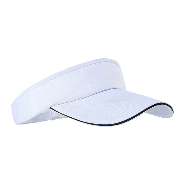 3817b39fb US $3.54 33% OFF|Women Visor Sun Plain Running Hat Sports Cap Solid Color  Adjustable Golf Tennis Beach Hat Outdoor Cap PB015-in Running Caps from ...