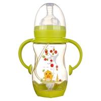 Children handle silicone nipple cartoon shatterproof 140ml PPSU wide diameter learn drinking baby bottle on sale KD1264