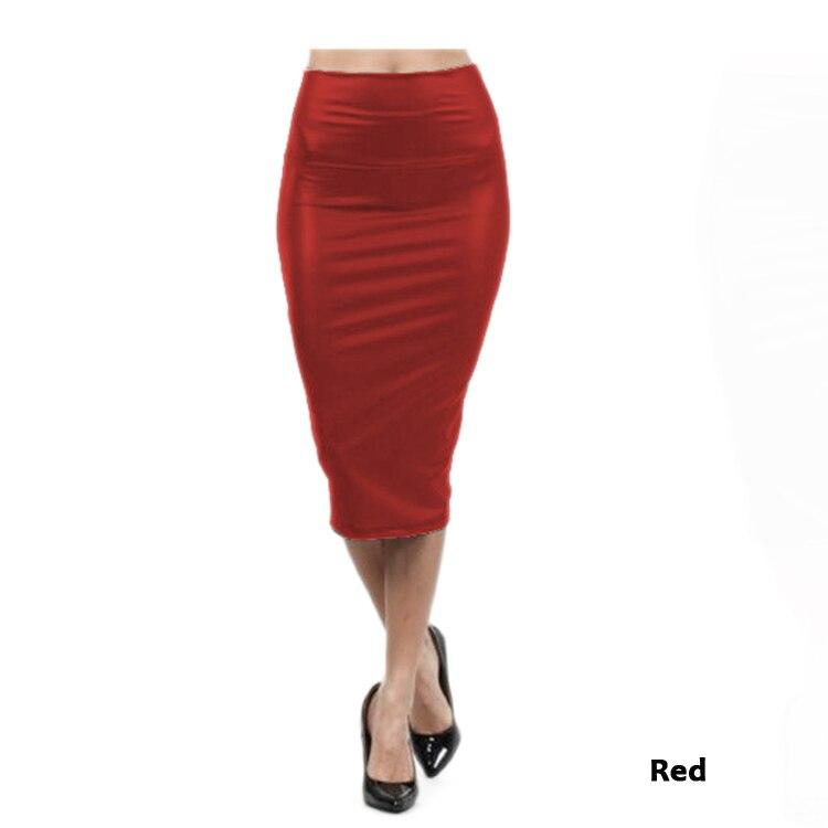9a413b1959fe26 € 5.48 |Jupe en cuir taille haute M LXL noir rouge sexy jupes crayon moyen  long décontracté sirène jupe partie bar club voyage dans Jupes de Mode ...