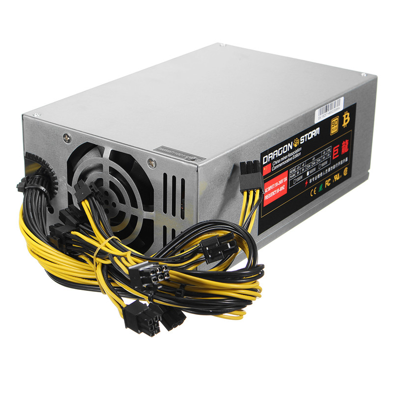 6pin*10 1600W ATX Power Supply PC For ETH S7 S9 for L3 Mining Machine Power Supplies for Eth Bitcoin Miner Antminer цена