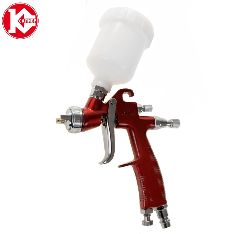 Kalibr KRP-0.8/0.12VB PROFI Spray gun for painting cars Pneumatic tool air brush sprayer 16mm bore 100mm stroke aluminum alloy pneumatic mini air cylinder mal16x100 free shipping