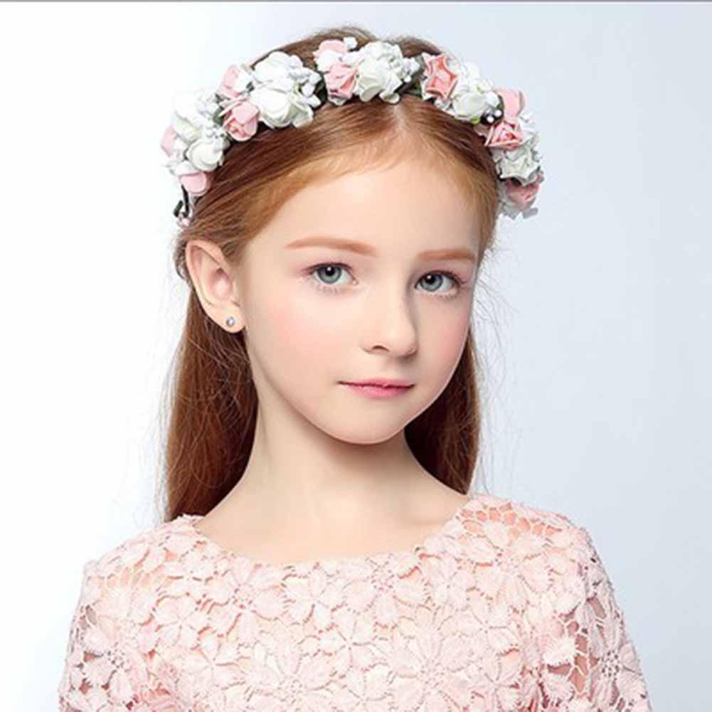 Boho floral wrist flower girl garland headwear crown of flowers hair wreath headbands accessories headpieces wedding tiara