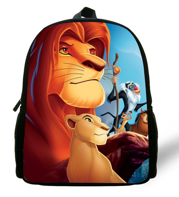 ba8bc31ce69 12-inch Simba The Lion King Backpack Kids Boys Cartoon The Lion King School  Bags Children Girls Preschool Baby Kindergarten Bag