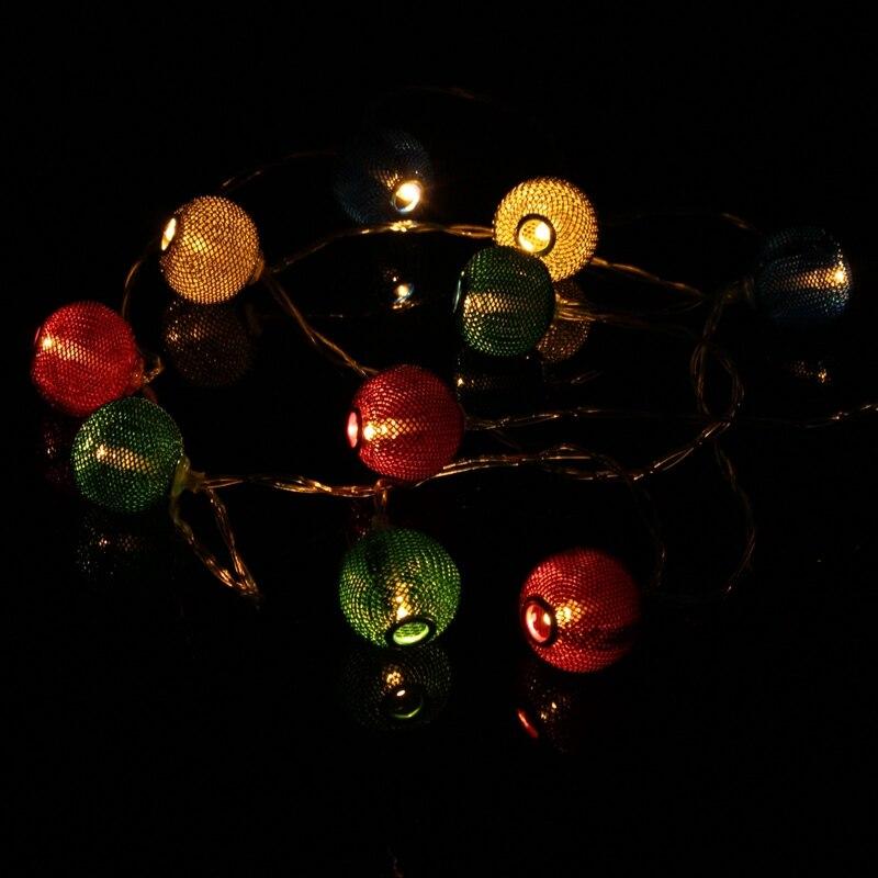 10/20 LED String Light Lantern Shaped Battery Patio Christmas Wedding Party Decoration LED Fairy Holiday Light Non Waterproof