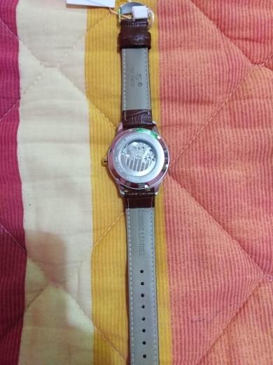 TEVISE Luxury Waterproof Automatic Men Mechanical Watch Moon Phase Luminous Self-Winding Man Casual Wristwatch Leather B